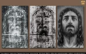 """Dodatkową pomocą jest """"fotografia"""" Pana Jesusa na całunie."""