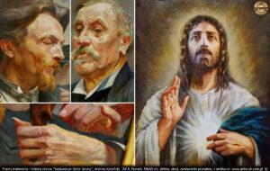 Ponieważ obraz był na etapie końcowym, postanowiłem obejrzeć oryginały obrazów Jacka Malczewskiego w Muzeum Narodowym w Poznaniu. Chciałem przyjrzeć się sposobowi nakładania farby, zobaczyć stopień kontrastu oraz grę świateł. Malczewski robił to mistrzowsko.