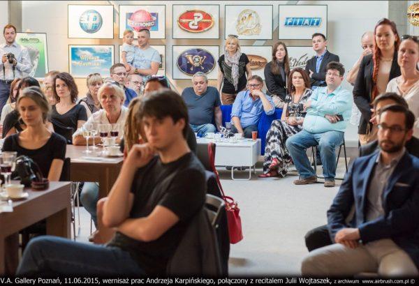 V.A. Gallery Poznań, 11.06.2015, wernisaż prac Andrzeja Karpi