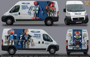 projekt samochodu reklamowego, firma Fachowiec, Karpiński