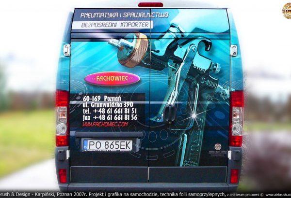 Airbrush & Design - Karpiński, Poznan 2007r. Projekt i grafika na samochodzie, technika folii samoprzylepnych, z archiwum pracowni ©  www.airbrush.com.pl
