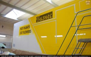 Sebo - transport, projekt i wykonanie reklamy w technice lakierniczej