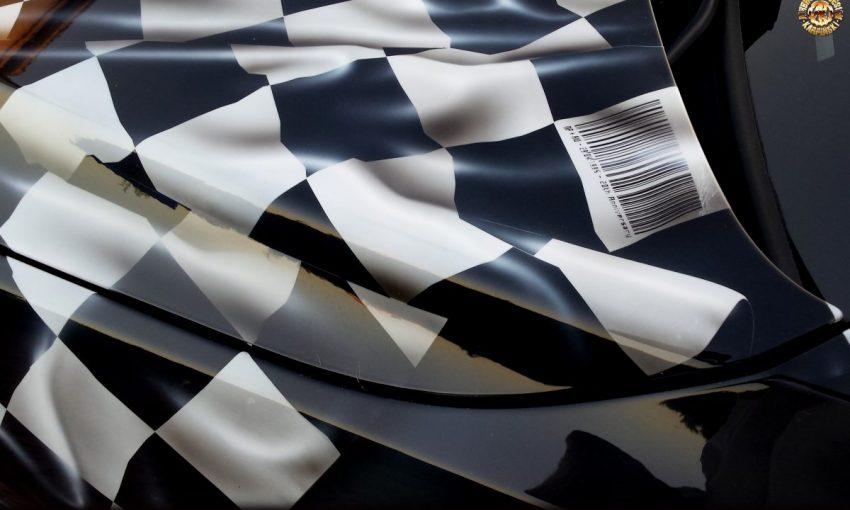 Airbrush & Design - Karpiński, Poznań 2015, proces malowania draperii na BMW X1, aerograf, lakiery bazowe, z archiwum  www.airbrush.com.pl  ©