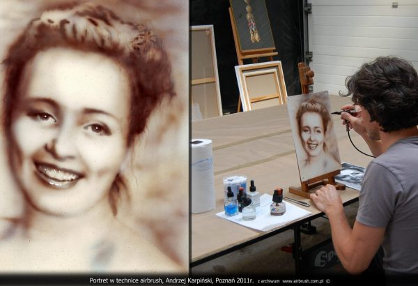 portret w technice airbrush