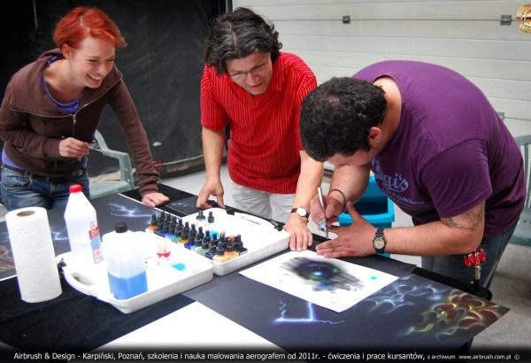 szkolenia airbrush malowanie aerografem