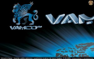 grafika wektorowa z wypełnieniem tonalnym dla Vamco-Singapur