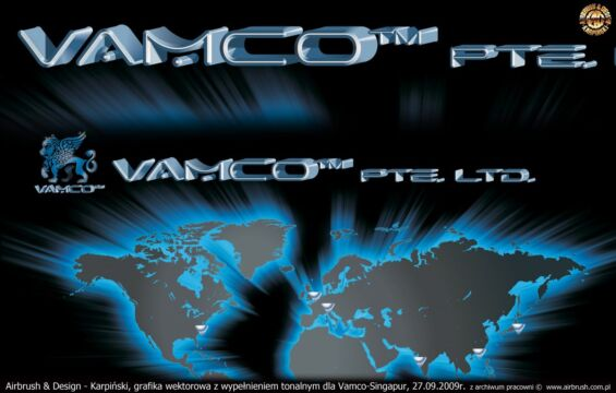 VAMCO (SINGAPUR) –  LOGO I CYFROWA GRAFIKA WEKTOROWA