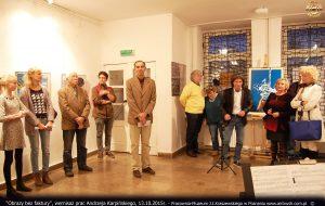 Obrazy bez faktury, wernisaż 2015, Muzeum Kraszewskiego w Poznaniu