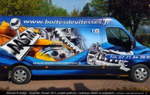 grafika reklamowa na Renault Master dla MSM 2015