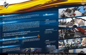 Foldery, plakaty i ulotki i materiały poligraficzne dla firmy MSM.