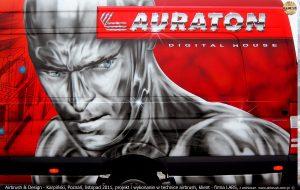 Iron-man. malarstwo reklamowe dla Auraton-Lars.