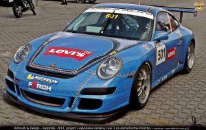 Porsche, grafika reklamowa dla Levi`s Poland, Radosław Kordecki.