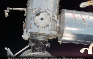Karpiński, anteny ARISS na module Columbus ISS