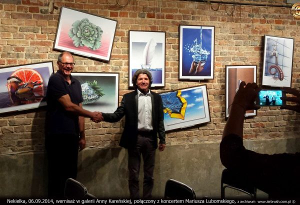 """Wernisaż """"Obrazy bez Faktury"""" połączony z koncertem Mariusza Lubomskiego, Galeria Anny Kareńskiej, Nekielka 06.09.2014r."""