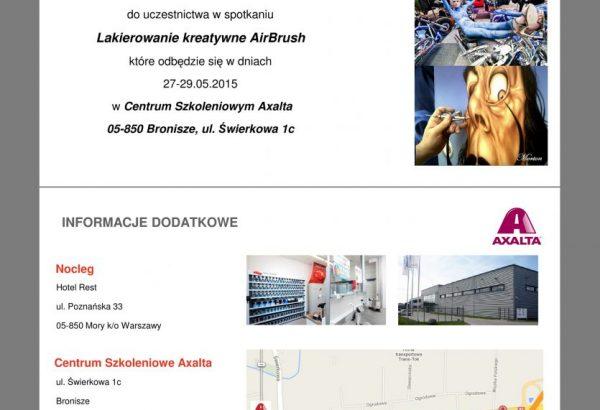 warsztaty Airbrush w Spies Hecker 2015