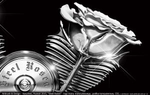 logo klubu motocyklowego Steel Roses