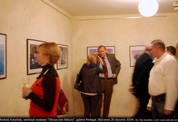 "wernisaż ""Obrazy bez Faktury"", Galeria Perlegal, Skórzewo, 20.01.2014r."